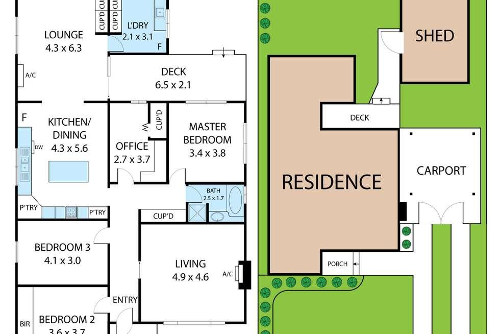 Floorplan of Homely house listing, 20 Kitchener Street, Trafalgar VIC 3824