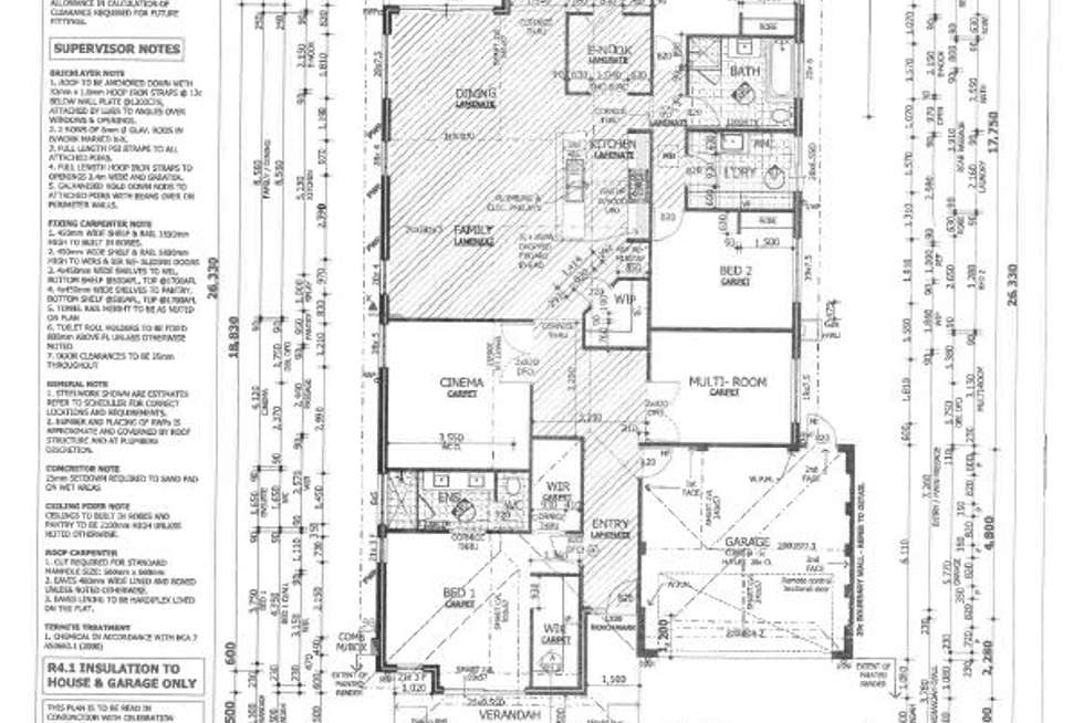 Floorplan of Homely house listing, 36 Branchton Loop, Baldivis WA 6171