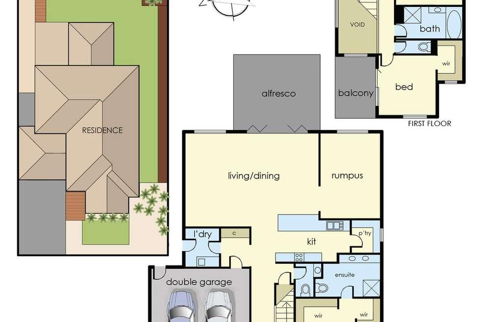 Floorplan of Homely house listing, 4 Sunnybrook Way, Lyndhurst VIC 3975