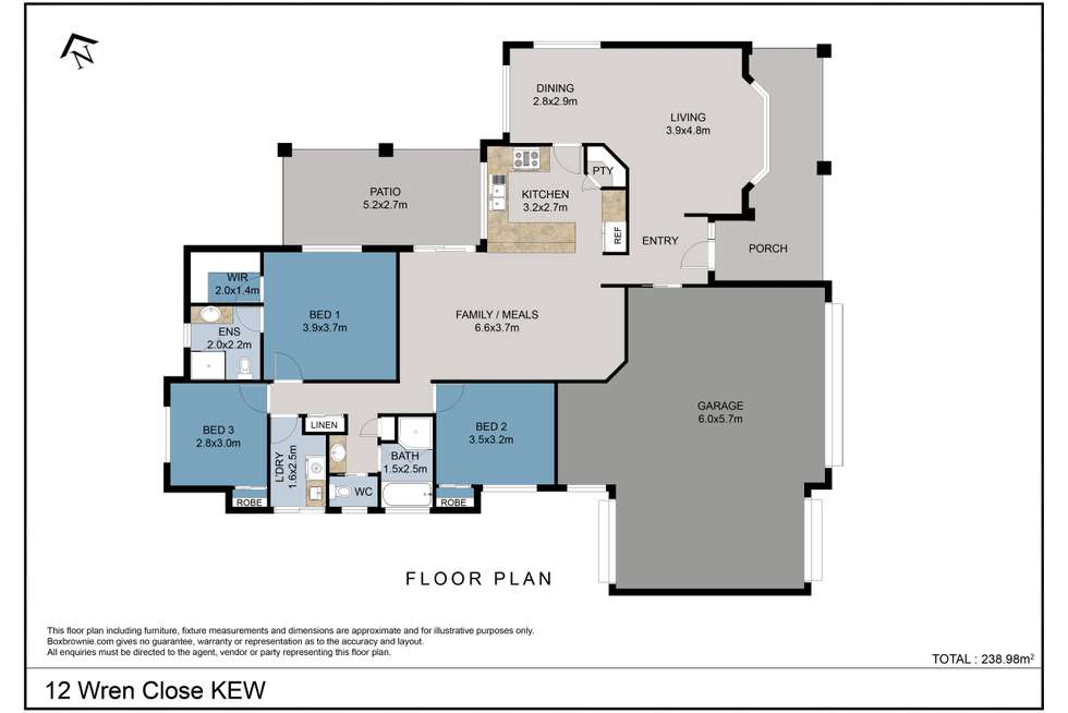 Floorplan of Homely house listing, 12 Wren Close, Kew NSW 2439