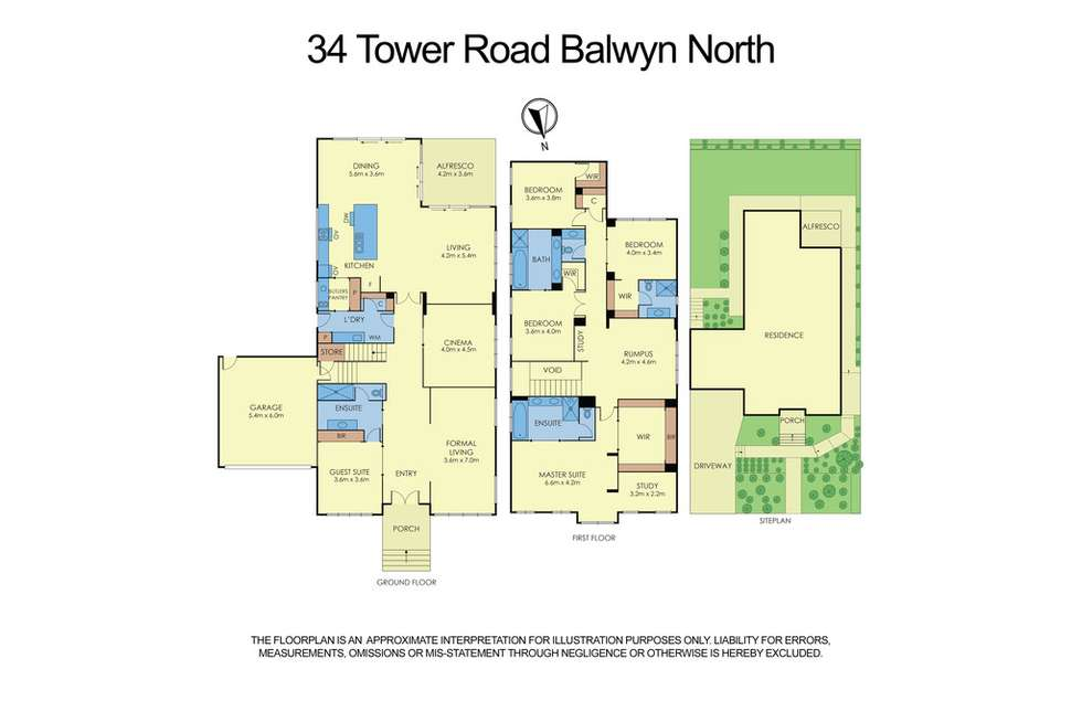 Floorplan of Homely house listing, 34 Tower Road, Balwyn North VIC 3104