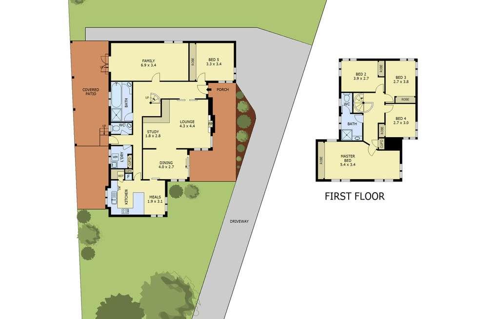 Floorplan of Homely house listing, 2 Wattletree Court, Glen Waverley VIC 3150