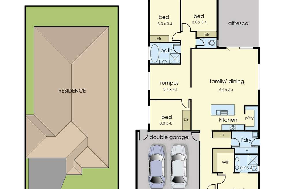 Floorplan of Homely house listing, 4 Endure Street, Clyde VIC 3978