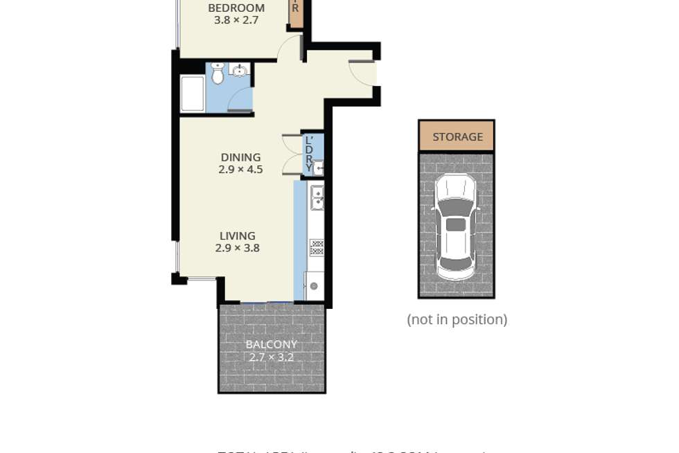 Floorplan of Homely apartment listing, 407/761 Station Street, Box Hill North VIC 3129