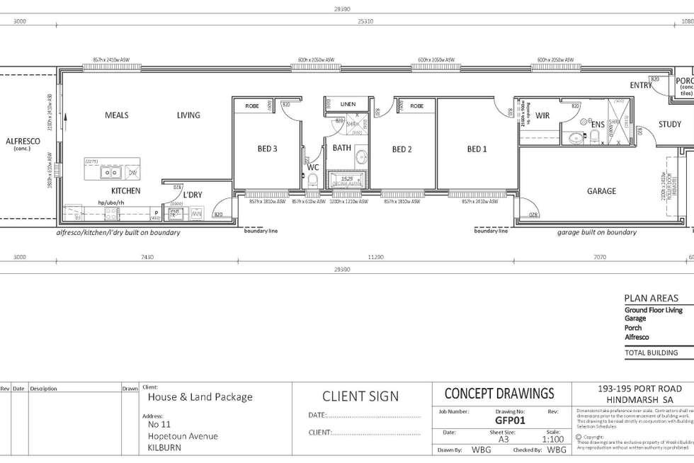 Floorplan of Homely house listing, 11 Hopetoun Avenue, Kilburn SA 5084