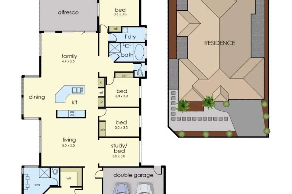 Floorplan of Homely house listing, 1 Ardenne Court, Narre Warren South VIC 3805