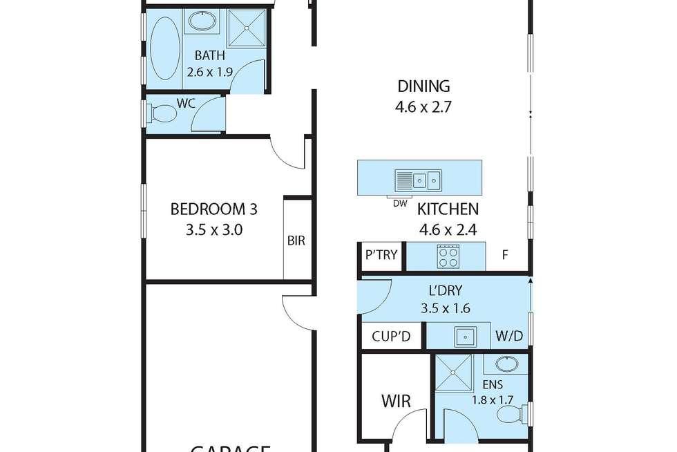 Floorplan of Homely house listing, 17 Gitsham Street, Alfredton VIC 3350