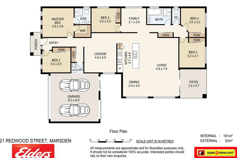 Floorplan of Homely house listing, 21 Redwood Street, Marsden QLD 4132