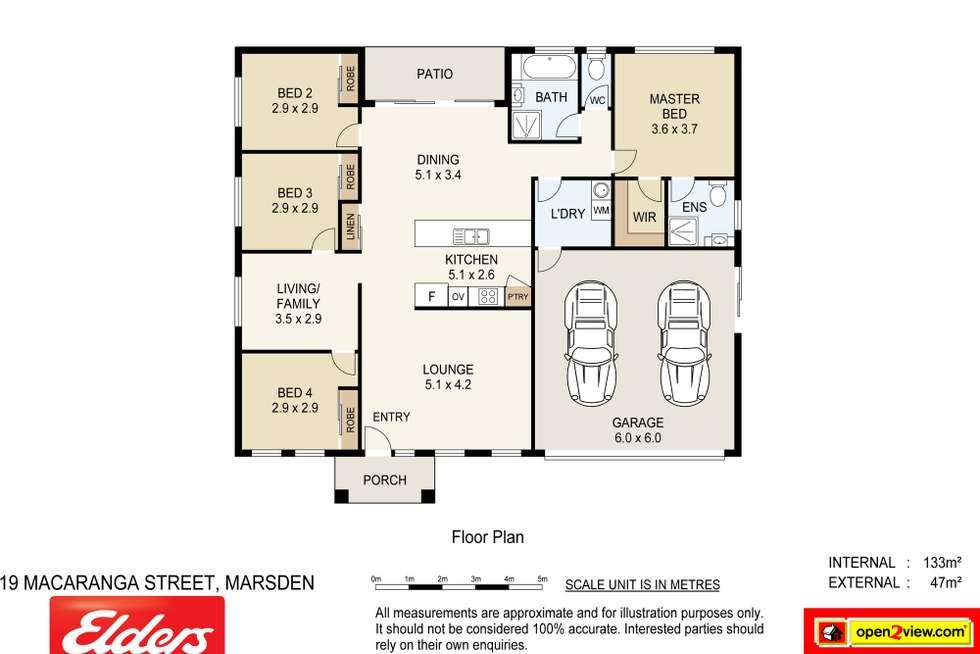 Floorplan of Homely house listing, 19 Macaranga Street, Marsden QLD 4132