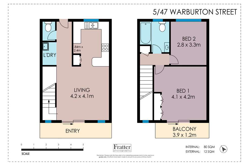Floorplan of Homely unit listing, 5/47 Warburton Street, North Ward QLD 4810