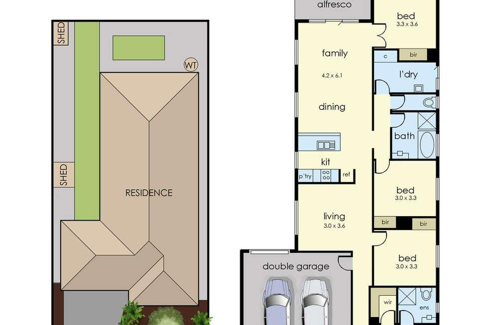 Floorplan of Homely house listing, 17 Tetrabine Way, Lyndhurst VIC 3975