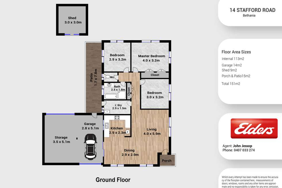 Floorplan of Homely house listing, 14 Strafford Road, Bethania QLD 4205