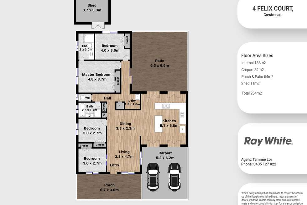 Floorplan of Homely house listing, 4 Felix Court, Crestmead QLD 4132