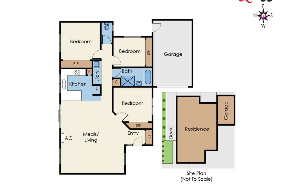 Floorplan of Homely unit listing, 52A Cromwell Street, Glenroy VIC 3046