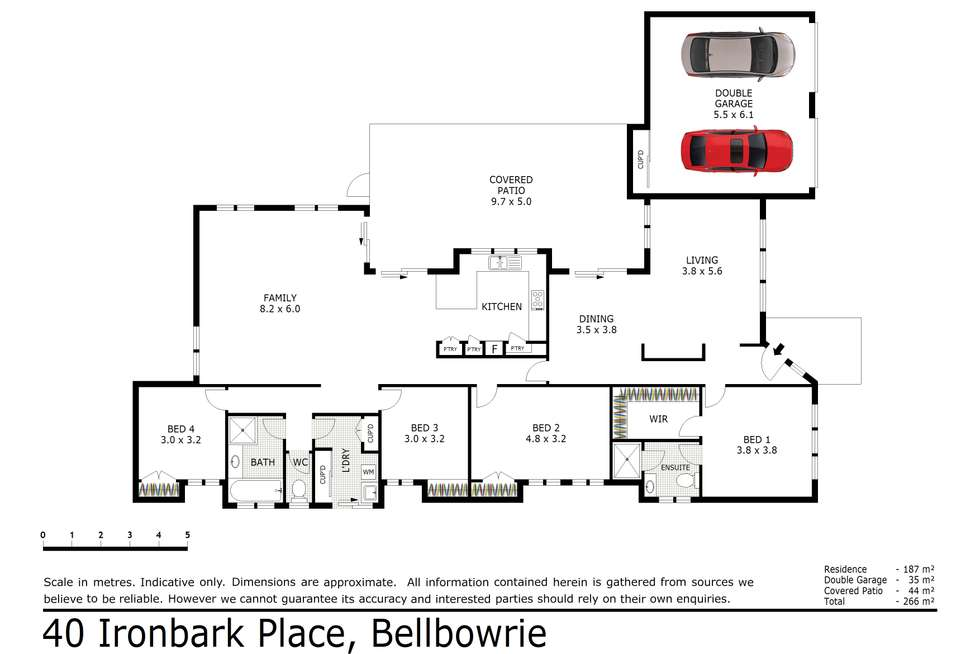 Floorplan of Homely house listing, 40 Ironbark Place, Bellbowrie QLD 4070