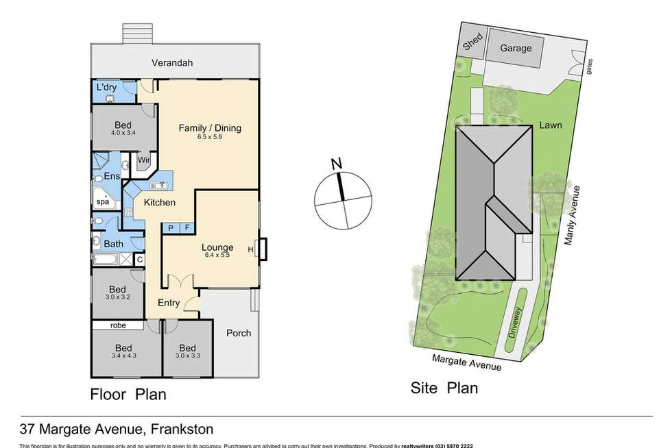 Floorplan of Homely house listing, 37 Margate Avenue, Frankston VIC 3199