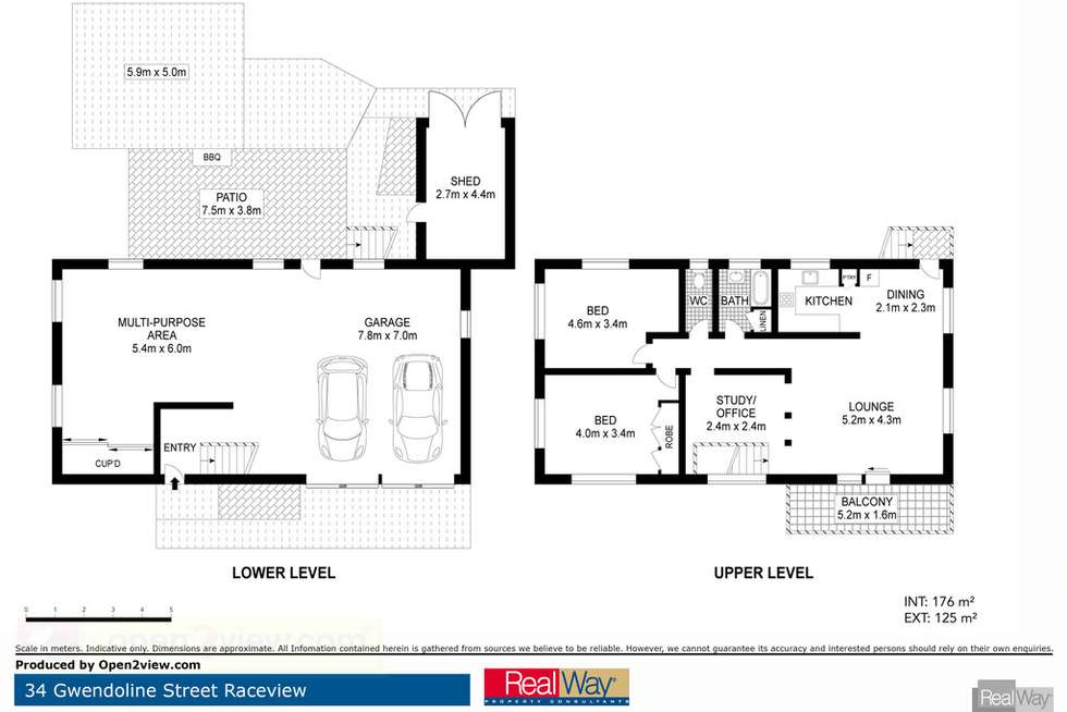 Floorplan of Homely house listing, 34 Gwendoline Street, Raceview QLD 4305