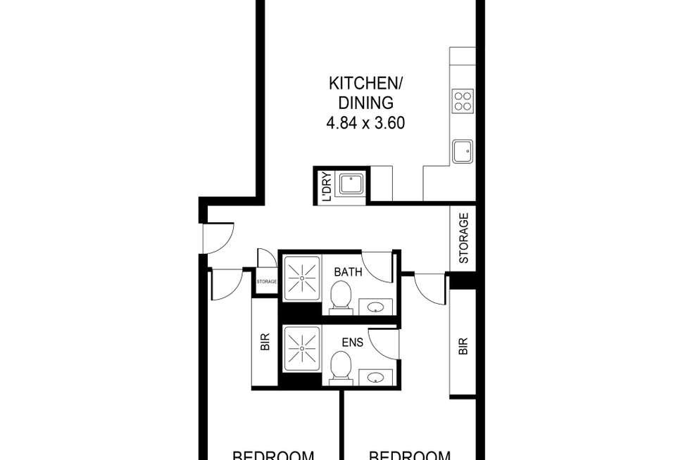 Floorplan of Homely apartment listing, 208/14 Sixth Street, Bowden SA 5007