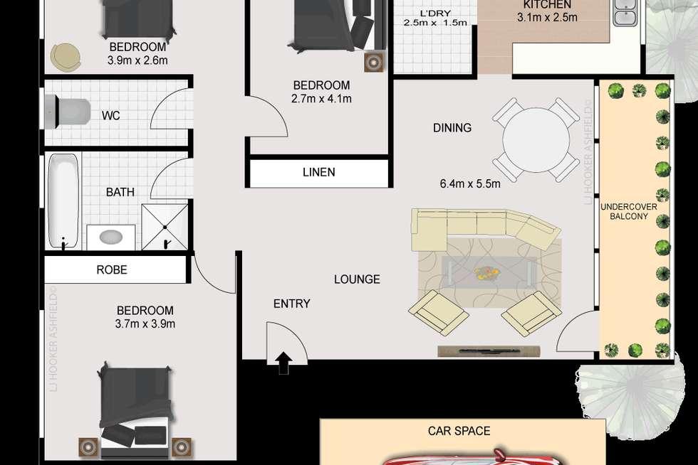 Floorplan of Homely unit listing, 6/30 Bland Street, Ashfield NSW 2131
