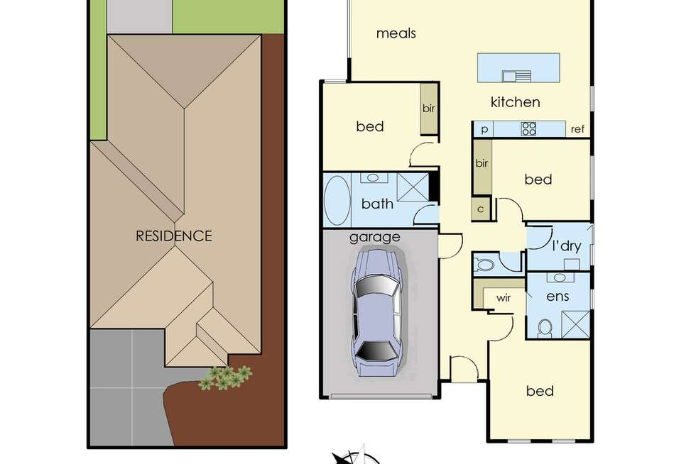 Floorplan of Homely house listing, 42 Yellow Robin Circuit, Cranbourne East VIC 3977