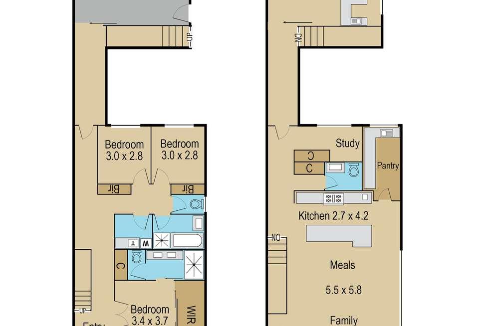 Floorplan of Homely house listing, 23 Coppin Lane, Caroline Springs VIC 3023