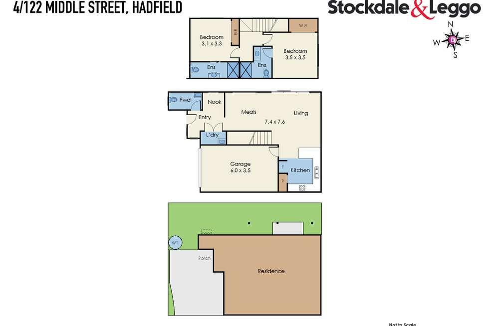 Floorplan of Homely townhouse listing, 4/122 Middle Street, Hadfield VIC 3046