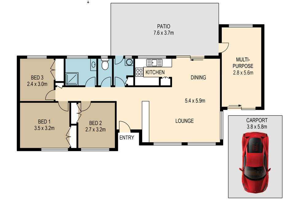 Floorplan of Homely house listing, 2 Wyong Court, Cornubia QLD 4130