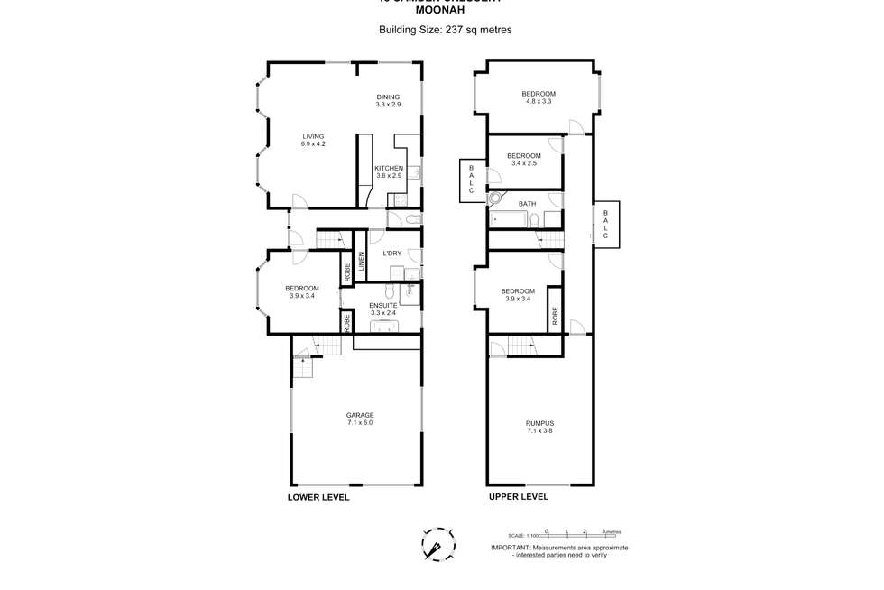 Floorplan of Homely house listing, 18 Camden Crescent, Moonah TAS 7009