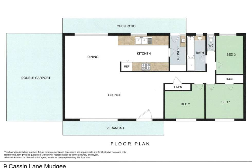 Floorplan of Homely house listing, 9 Cassin Lane, Mudgee NSW 2850