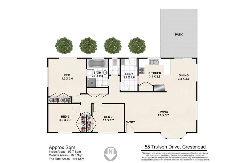 Floorplan of Homely house listing, 58 Trulson Drive, Crestmead QLD 4132