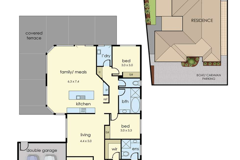 Floorplan of Homely house listing, 9 Red Oak Terrace, Lyndhurst VIC 3975