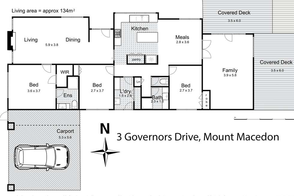 Floorplan of Homely house listing, 3 Governors Drive, Mount Macedon VIC 3441