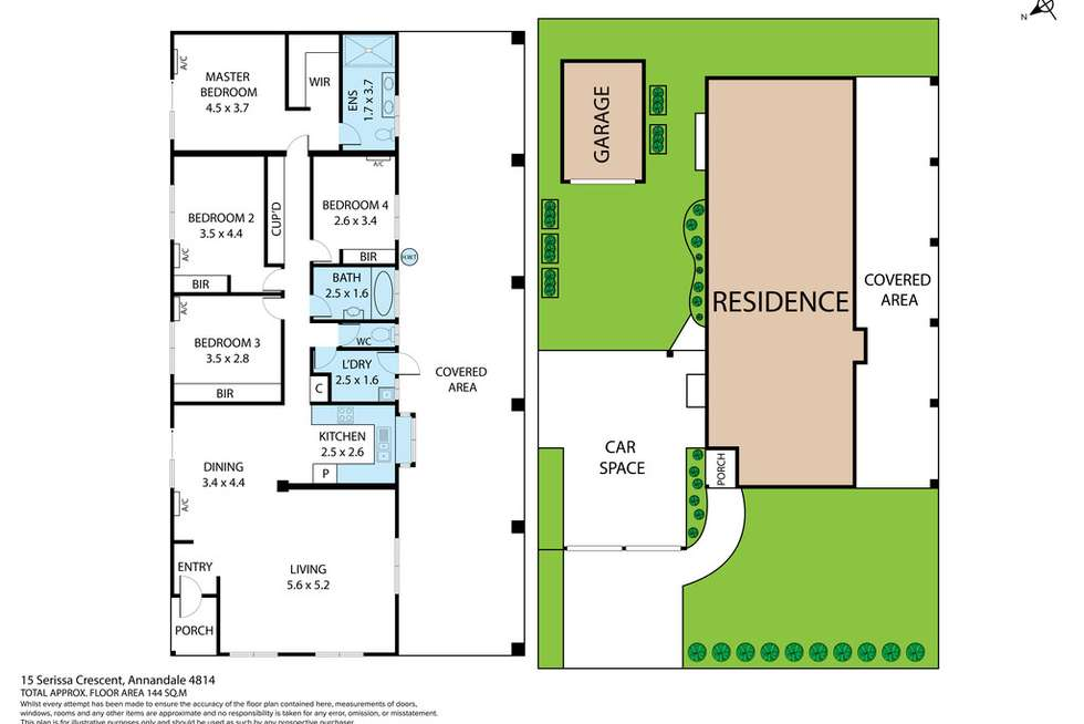 Floorplan of Homely house listing, 15 Serissa Crescent, Annandale QLD 4814
