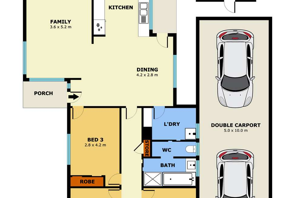 Floorplan of Homely house listing, 99 TALINTYRE ROAD, Sunshine West VIC 3020
