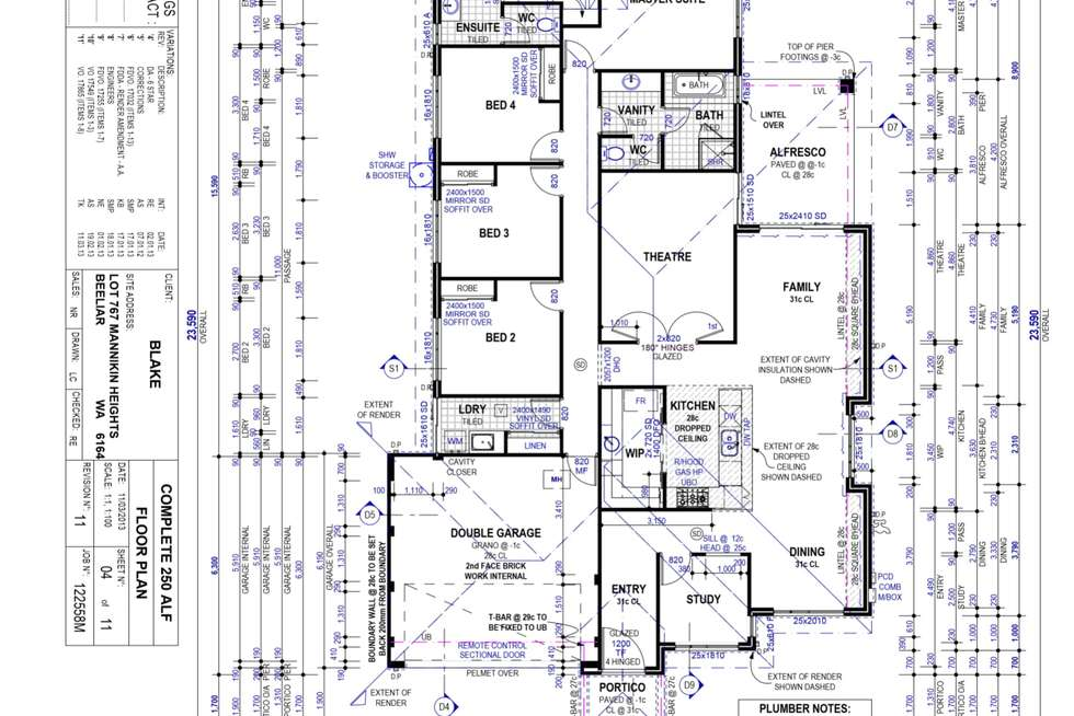 Floorplan of Homely house listing, 50 Mannikin Heights, Beeliar WA 6164