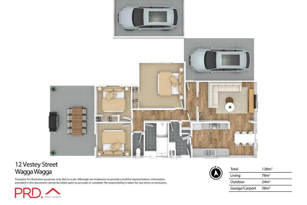 Floorplan of Homely house listing, 12 Vestey Street, Wagga Wagga NSW 2650