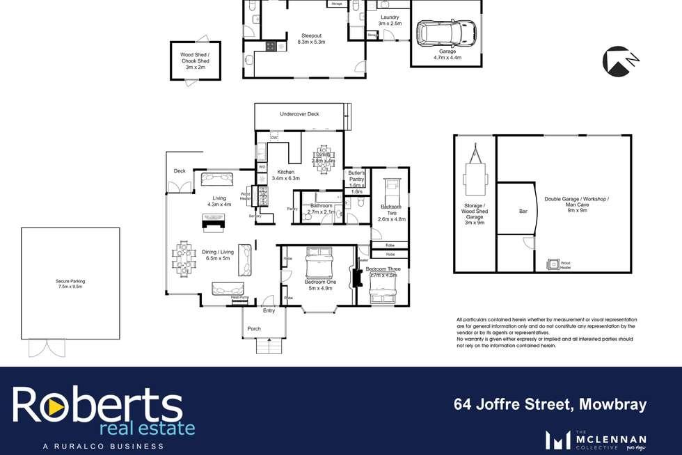 Floorplan of Homely house listing, 64 Joffre Street, Mowbray TAS 7248