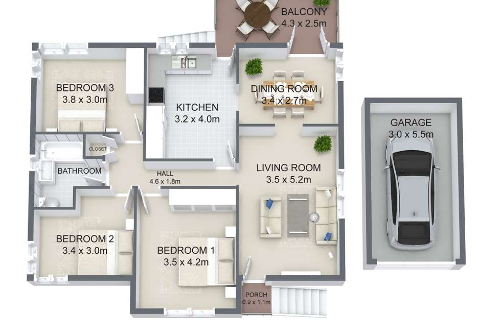 Floorplan of Homely house listing, 12 Romea Street, The Gap QLD 4061