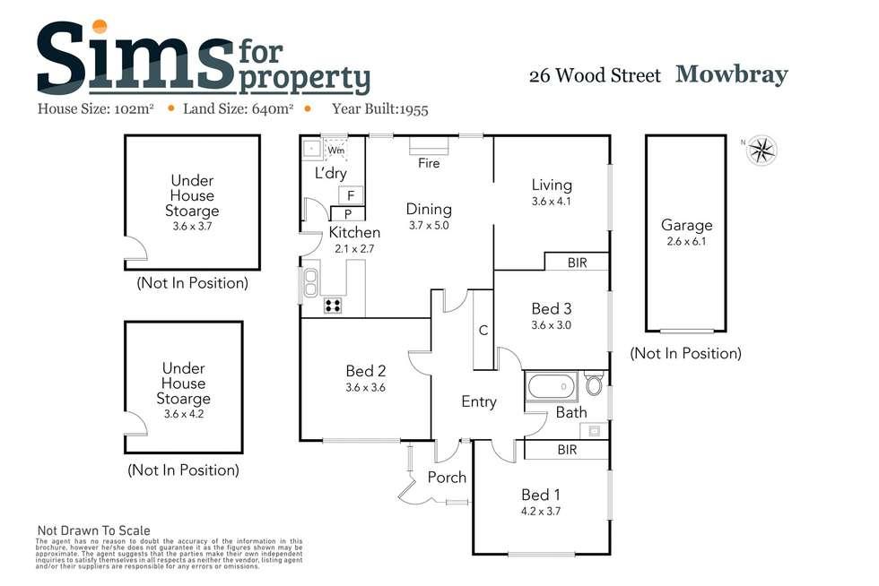 Floorplan of Homely house listing, 26 Wood Street, Mowbray TAS 7248