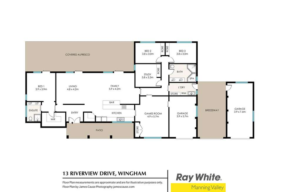 Floorplan of Homely acreageSemiRural listing, 13 Riverview Drive, Wingham NSW 2429