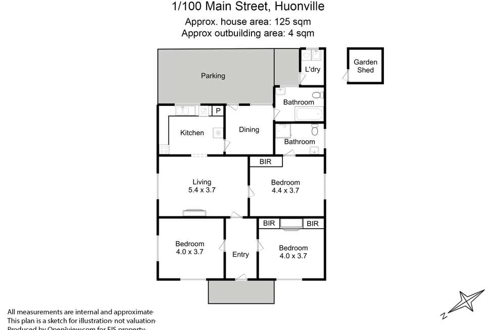 Floorplan of Homely house listing, 1/100 Main Street, Huonville TAS 7109