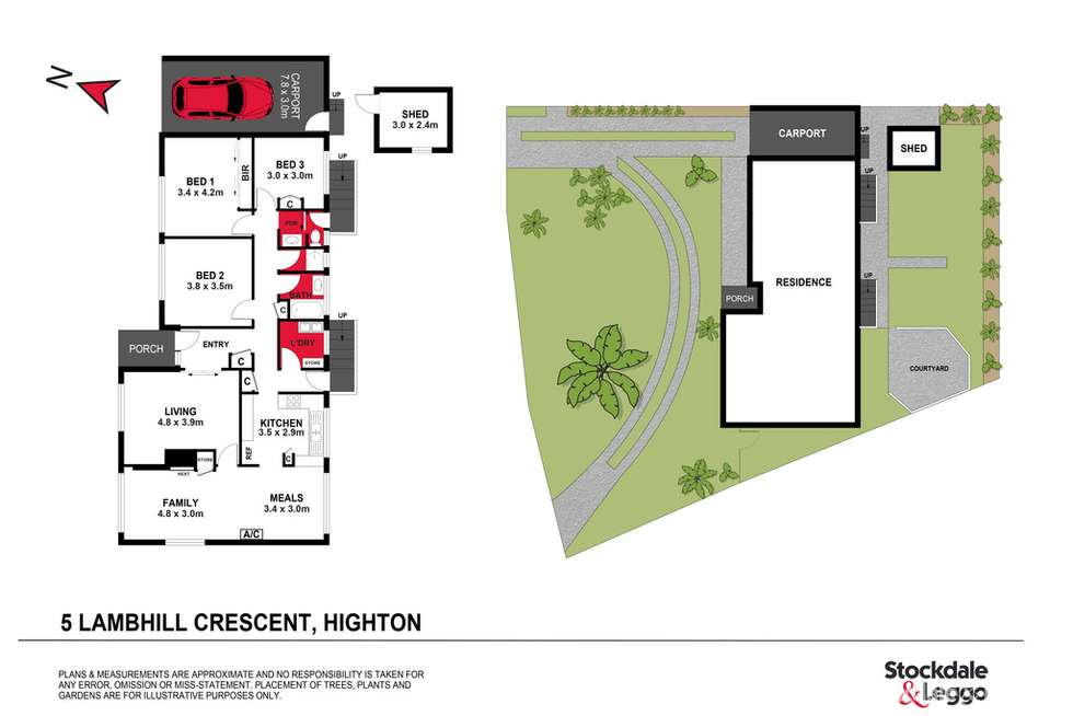 Floorplan of Homely house listing, 5 Lambhill Crescent, Highton VIC 3216
