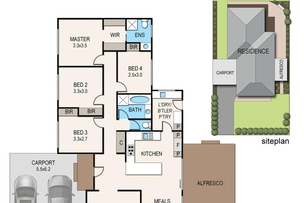 Floorplan of Homely house listing, 26 Beech Street, Langwarrin VIC 3910