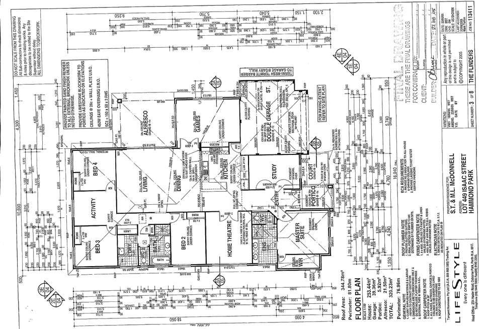 Floorplan of Homely house listing, 5 Isaac Street, Hammond Park WA 6164