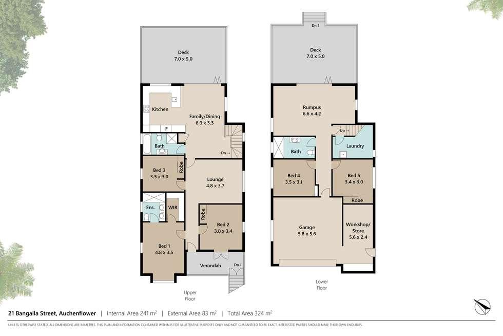 Floorplan of Homely house listing, 21 Bangalla Street, Auchenflower QLD 4066