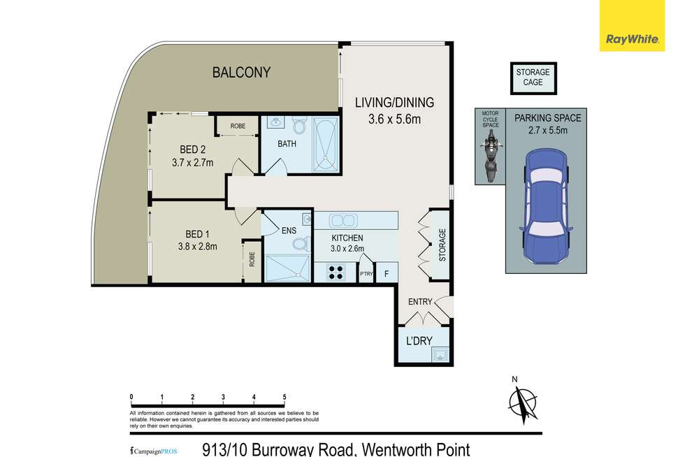 Floorplan of Homely apartment listing, 913/10 Burroway Road, Wentworth Point NSW 2127