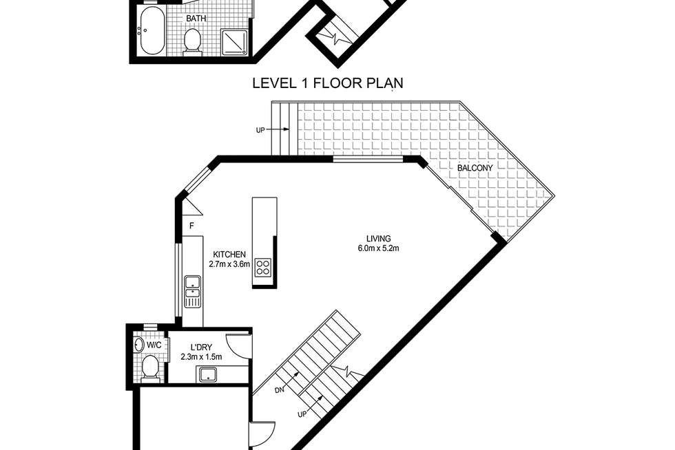 Floorplan of Homely townhouse listing, 1/71-73 Donnison Street West, Gosford NSW 2250
