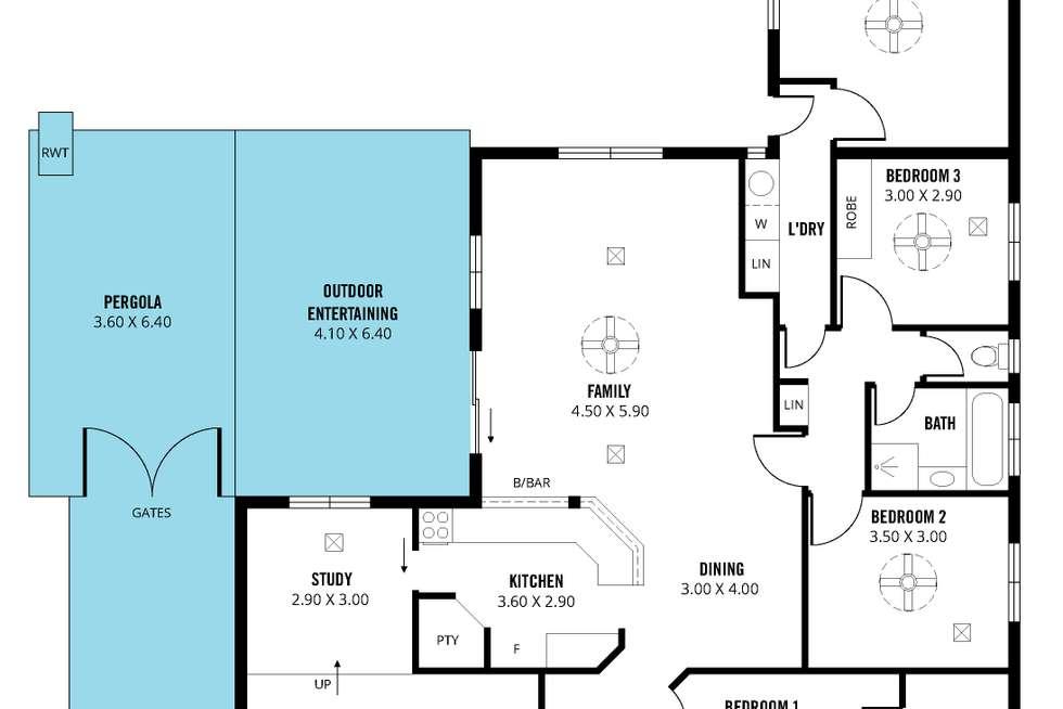 Floorplan of Homely house listing, 20 Macquarie Street, Moana SA 5169