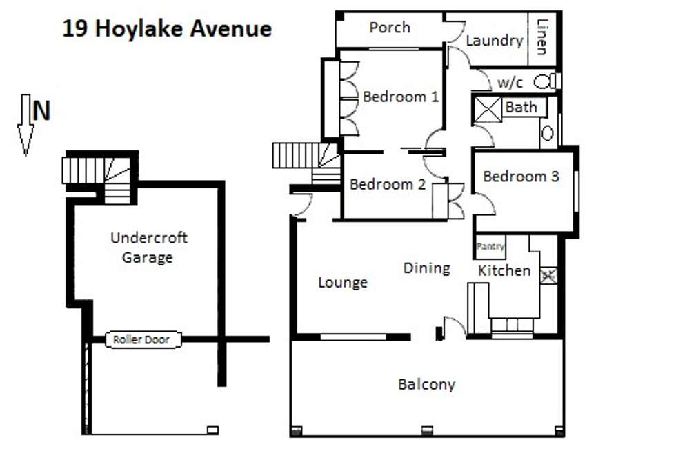 Floorplan of Homely house listing, 19 Hoylake Avenue, South Bunbury WA 6230