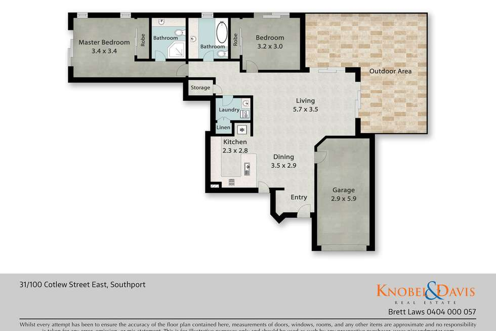 Floorplan of Homely apartment listing, 31/100 Cotlew Street East, Southport QLD 4215